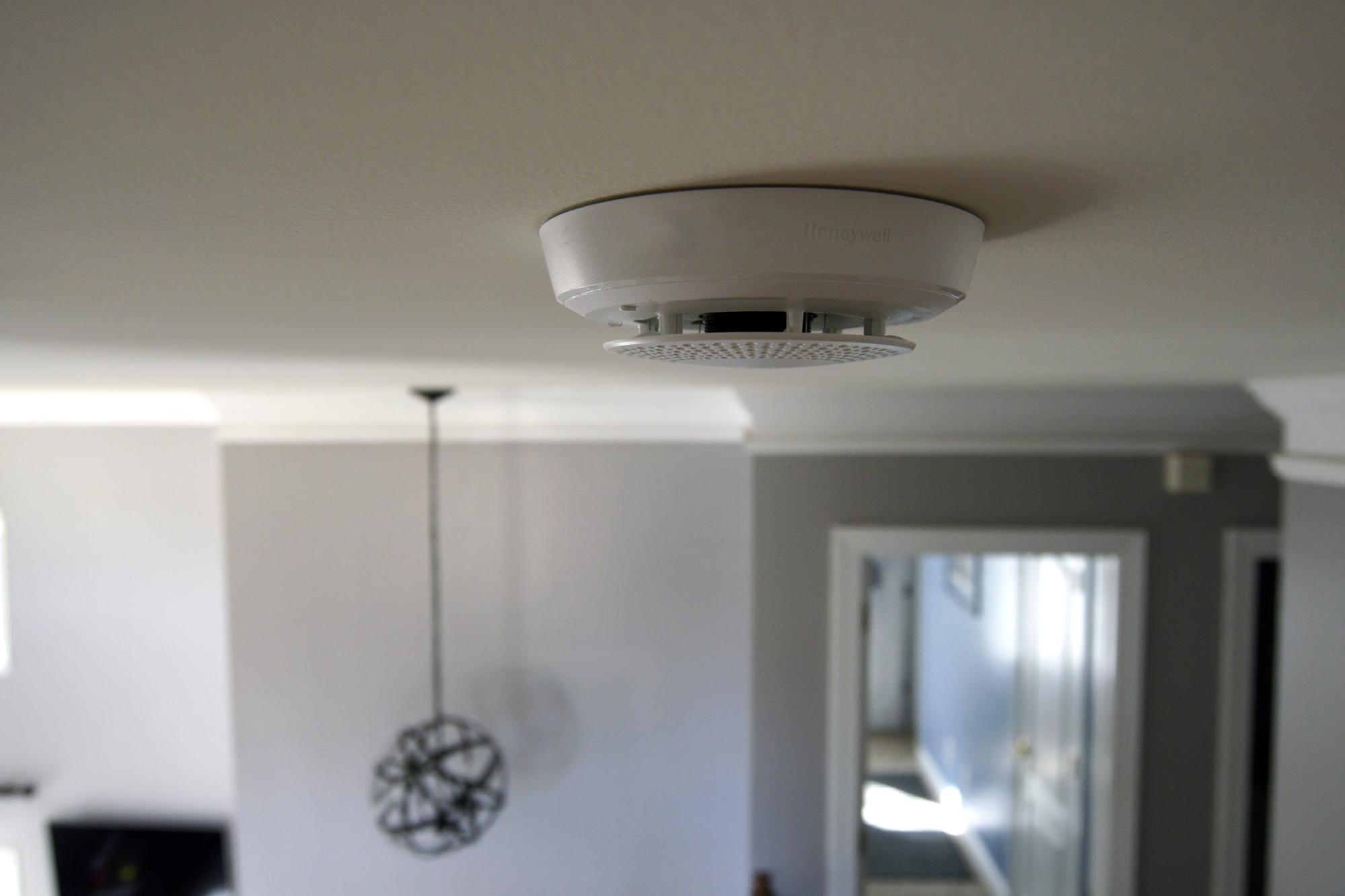 Smoke alarm batteries should be changed about once a year.